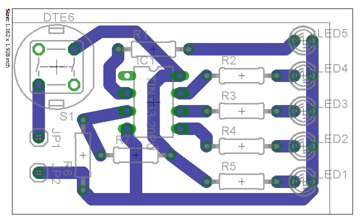 Battery Charge Indicator Using A Attiny13 Microcontroller